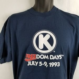 Vintage Circle K Freedom Days 1993 Employee Shirt